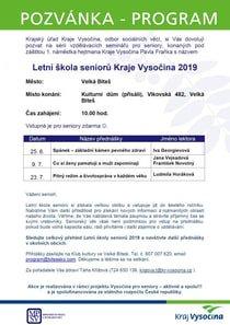 Letní škola seniorů 2019