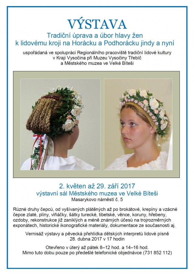Výstava úbory hlavy žen na Horácku a Podhorácku