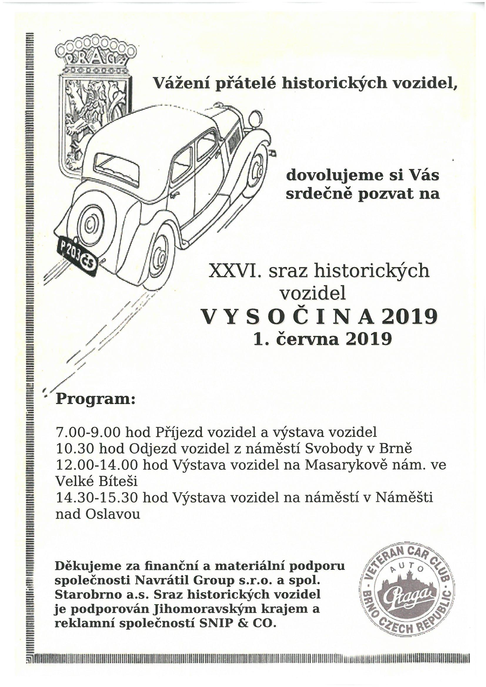 historická vozidla plakát