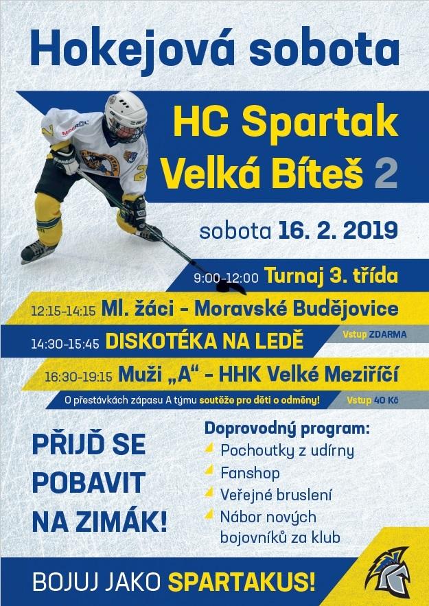 Hokejová sobota únor