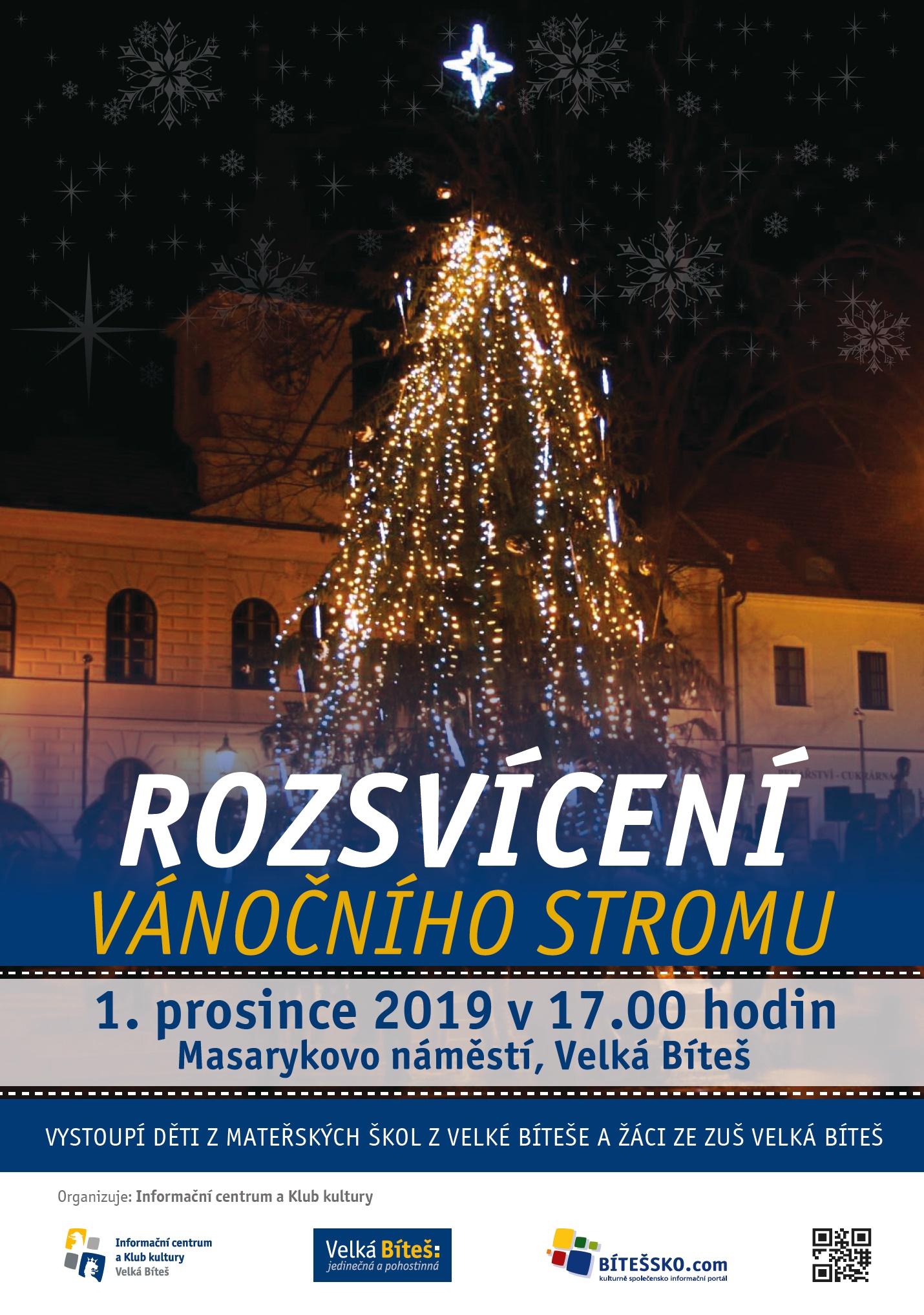 rozsvícení stromu 2019