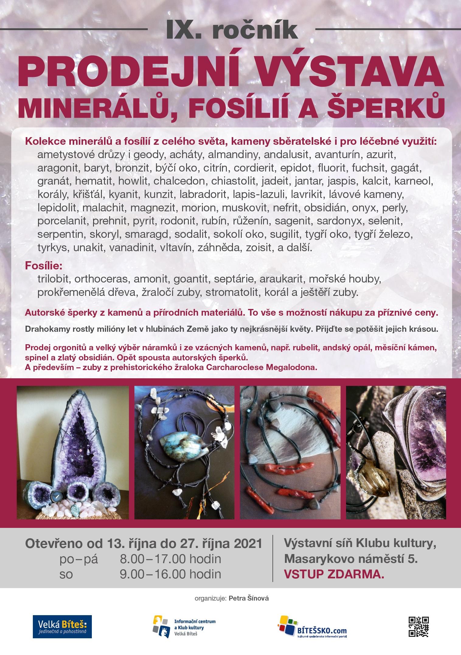 výstava minerálů
